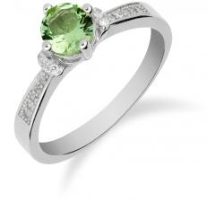 SS133R - prsteň AG 925/1000 - sv. zelená