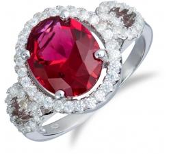 SS29R - prsteň AG 925/1000 - červená