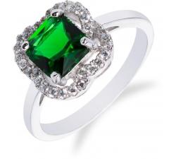 SS42R - prsteň AG 925/1000 - zelená