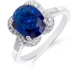 SS45R - prsteň AG 925/1000 - modrá