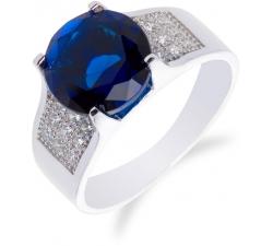 SS53R - prsteň AG 925/1000 - modrá