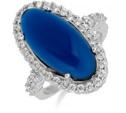SS55R - prsteň AG 925/1000 - modrá