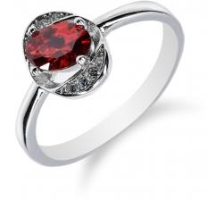 SS65R - prsteň AG 925/1000 - červená