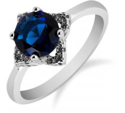 SS75R - prsteň AG 925/1000 - modrá