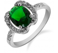 SS78R - prsteň AG 925/1000 - zelená