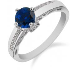 SS86R - prsteň AG 925/1000 - modrá