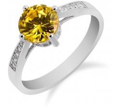 SS93R - prsteň AG 925/1000 - žltá
