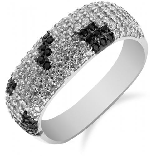 SS99R - prsteň AG 925/1000 - čierna