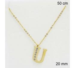 Zlatá oceľová retiazka s príveskom 23189621