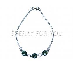 Strieborný náramok Swarovski elements Rivoli zelený chrysolite