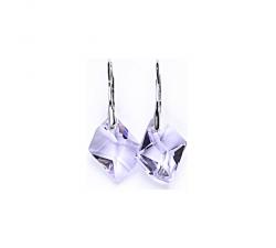 Náušnice Swarovski elements Cosmic fialove violet