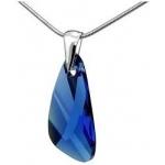 Prívesok Swarovski elements krídla 23 mm modrý Capri Blue